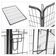 Jaxpety 40 Pet Playpen 8 Panel Folding Exercise Pet Playpen Dog Fences Puppy Gate Home Indoor Outdoor Kennels