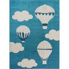 Shop Blue White Soft Cute Area Rug Carpet Mat With Baloons Clouds Cartoon For Kids Little Girl Boy Room Nursery 4x5 5x7 7x9 8x10 Overstock 29351975
