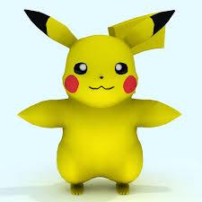 Low Poly Pikachu Pokemon 3D Model $15 - .dae .obj .ma .max .fbx .unknown -  Free3D