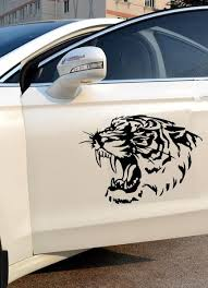 Fierce Tiger Head Roaring Car Decal The Decal House