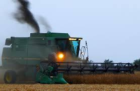 bine harvest north dakota field