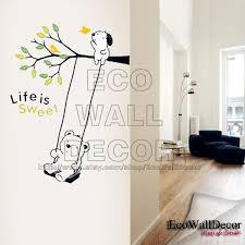 Evan Peel And Stick Removable Vinyl Wall Sticker Mural Decal Art Lovely Puppy Swing 12 00 Via Etsy Wall Stickers Murals Vinyl Wall Vinyl Wall Stickers