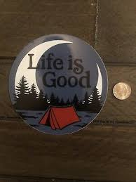 New Life Is Good Camping Tent Moon Sticker 4 Circle Hydroflask Yeti Car Decal 2 80 Picclick