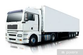 White Semi Truck Isolated Wall Mural Pixers We Live To Change