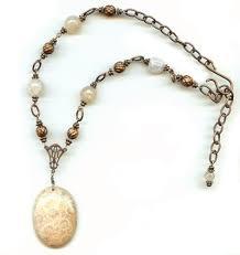 petoskey pendant with bail bead