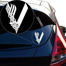 Amazon Com Yoonek Graphics Vikings Tv Show Decal Sticker For Car Window Laptop And More 813 8 X 5 7 White Automotive