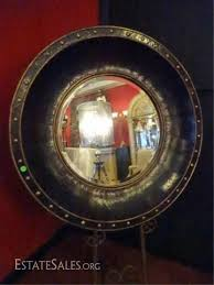 lot 67a large leather wrapped mirror