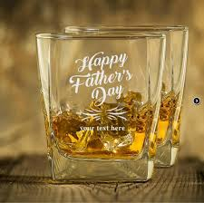transpa whiskey glass with engraved