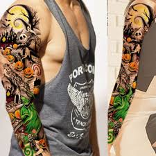 Pelna Ramie Kwiat Tatuaz Naklejki Wodoodporne Tymczasowe Tattoo