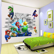 Cartoon Super Mario Bros 3d Diy Stickers For Kids Baby Room Vinyl Art Wall Stickers Decals Home Decor Wall Sticker Stickers Forhome Decor Aliexpress
