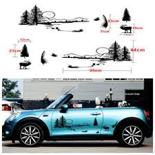 2x Hunt Forest Reindeer Graphic Car Vinyl Decal Hollow Decal Personality Sticker Ebay