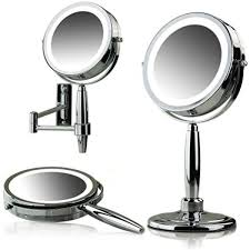 ovente led lighted 3 in 1 makeup mirror