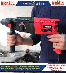 Máy khoan Maktec 2-26 - 900W - 3 chức năng: Khoan, đục, búa, 100% dây đồng,  Hàng thợ điện nước chuyên dùng khoan bê tông và đục tường