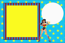 Wonder Woman Free Printable Invitations Labels Or Cards Invitaciones Para Imprimir Gratis Invitaciones Para Imprimir