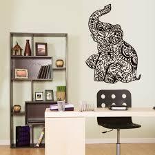 Wall Vinyl Decal Sticker Bedroom Decal Ganesh Om Elephant Tattoo Manda Stickersforlife