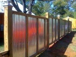Picture On Visualizeus Corrugated Metal Fence Metal Fence Fence Design