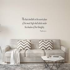 Winston Porter He That Dwelleth In The Secret Place Of The Most High Bible Wall Decal Reviews Wayfair