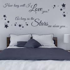 How Long Will I Love You Wall Sticker Decals