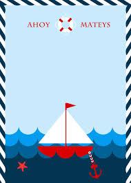 Invitacion Nautica Azul Invitaciones Nauticas Invitaciones Y