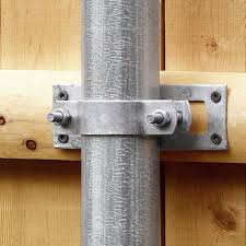 Gray Metal Fence Wood Post Adaptor Chain Link Fence In The Fence Hardware Department At Lowes Com