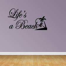 Wall Decal Quote Life Beach Summer Family Sticker Decoratorist 82761