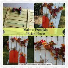 Make This Autumn Pumpkin Fence