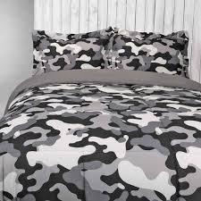 black white and grey camo bedding