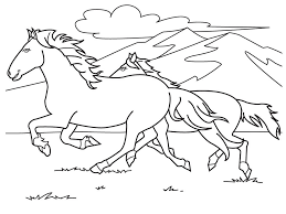 Running White Horse Coloring Pages Lovak Lovas Mintak