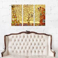 Tree Of Life By Gustav Klimt Poster Or Wall Sticker Decal 3 Panels Wall Art Ebay