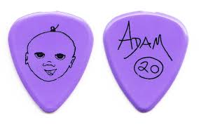 Matchbox Twenty 20 Adam Gaynor Signature Baby Purple Guitar Pick ...