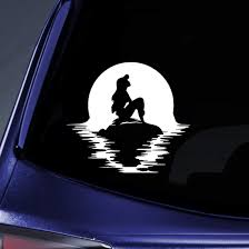 Amazon Com Bargain Max Decals Mermaid Sitting On Rock Sticker Decal Notebook Car Laptop 5 5 White Automotive