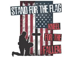Stand For The Flag Kneel Cross Decal