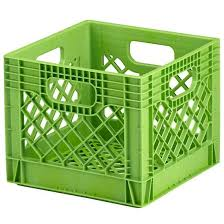Milk Crate Green Milk Crate Storage Milk Crates Crate Storage