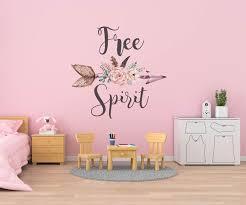 Boho Wall Decals Free Spirit Wall Decals Hippie Love Sticker Boh Walls2lifedecals