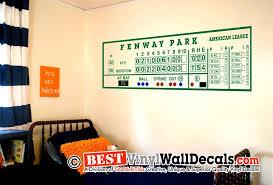 Fenway Park Redsox Scoreboard Wall Decal Al Version Wall Decals Fenway Park Ultimate Man Cave