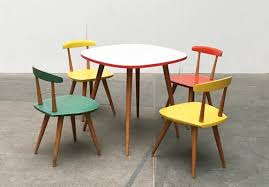 table chairs set by karla drabsch
