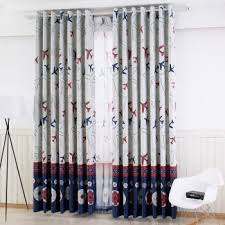 Blue Red And White Airplane Print Teens Room Boys Room Kids Room Curtain Curtainlinen Com