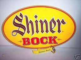 shiner bock beer sticker keychain