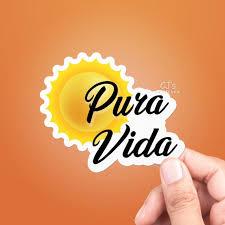 Pura Vida Sticker Best Friend Gift Vsco Stickers Laptop Etsy