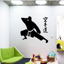 Wall Decal Karate Wall Sticker Home Decoration Accessories For Living Room Kids Room Removable Decor Wall Decals Wall Stickers Aliexpress