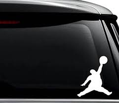 Amazon Com Fat Jumpman Basketball Funny Decal Sticker For Use On Laptop Helmet Car Truck Motorcycle Windows Bumper Wall And Decor Size 6 Inch 15 Cm Tall Color Gloss White Arts Crafts