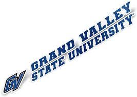 Amazon Com Grand Valley State University Gvsu Lakers Ncaa Name Logo Vinyl Decal Laptop Water Bottle Car Scrapbook 8 Inch Sticker Arts Crafts Sewing