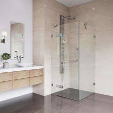 double hinged square shower doors