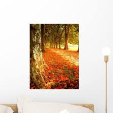 Autumn Scene Wall Decal Wallmonkeys Com