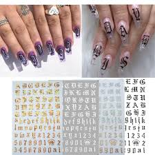 Nail Decoration Stickers On The Nails Of The Inscription Accessoires Rose Gold Letter Decal Sticker Art For Manicure Back Glue Airbrush Nails Nail Stamp From Heheda2 24 64 Dhgate Com