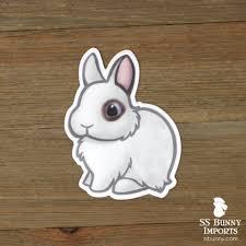 Custom 5x Dwarf Rabbit Vinyl Stickers Ss Bunny Imports