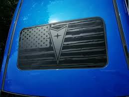 Pontiac G8 Chevy Ss Sunroof Usa Flag Vinyl Decal Mate Etsy