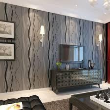 black grey wave striped wallpaper