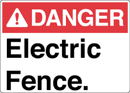 Electrical Safety Sign Danger Electric Fence Stonehouse Signs