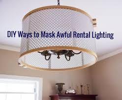 diy ways to mask awful al lighting
